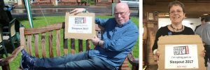 A cardboard box for the night – so others don't have to