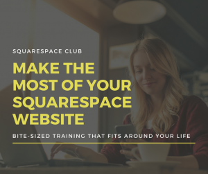 Bite-sized Squarespace website training that fits into your life