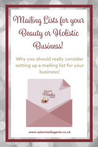 Mailing Lists for your Beauty or Holistic Business