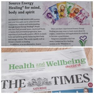 Source Energy Healing in The Times