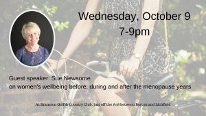 Women's Wellbeing (before, during and after the menopause years) with WiRE Burton