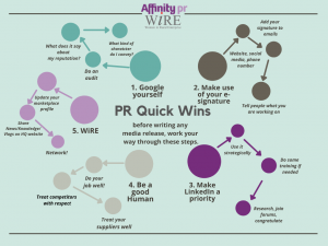 "PR Quick Wins – WiRE National ""Network Online"" Event with Helen Oldfield"